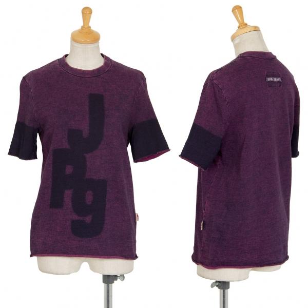 ジャンポールゴルチエジーンズJPG JEAN'S ロゴプリント半袖スウェット 紫40