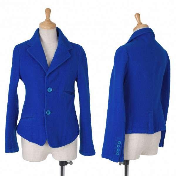ヨウジヤマモトノアールYohji Yamamoto NOIR 圧縮ウール製品染めジャケット 青1