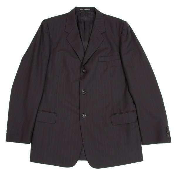【SALE】ワイズフォーメンY's for men  ストライプテーラードジャケット 黒グレー4