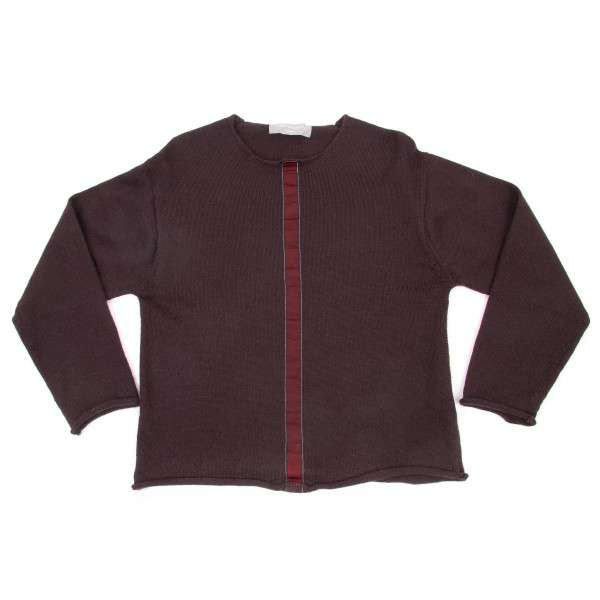 【SALE】コムデギャルソン オムCOMME des GARCONS HOMME  製品染めテープ貼付けセーター あずきM位