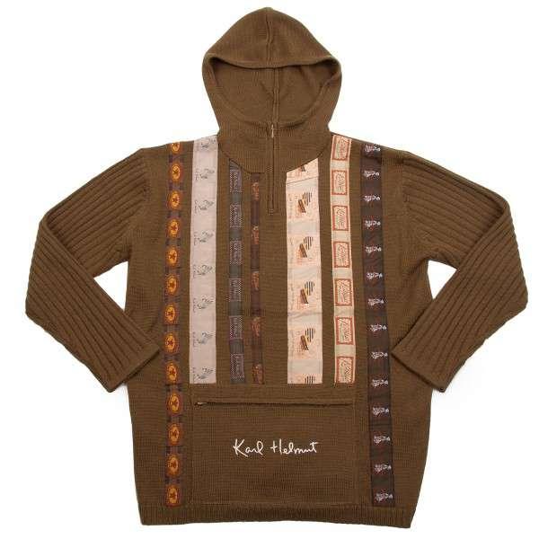 (SALE) Karl Helmut tag taping knit Parker Größe About  M(K-24755)