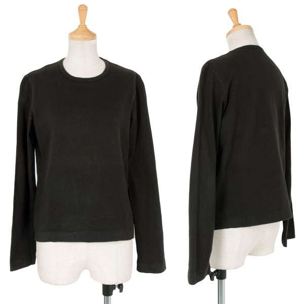 【SALE】トリコ コムデギャルソンtricot COMME des GARCONS コットン長袖カットソー 黒M位