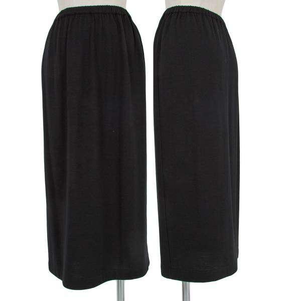 【SALE】トリコ コムデギャルソンtricot COMME des GARCONS ウエストゴムウールロングスカート 黒M位