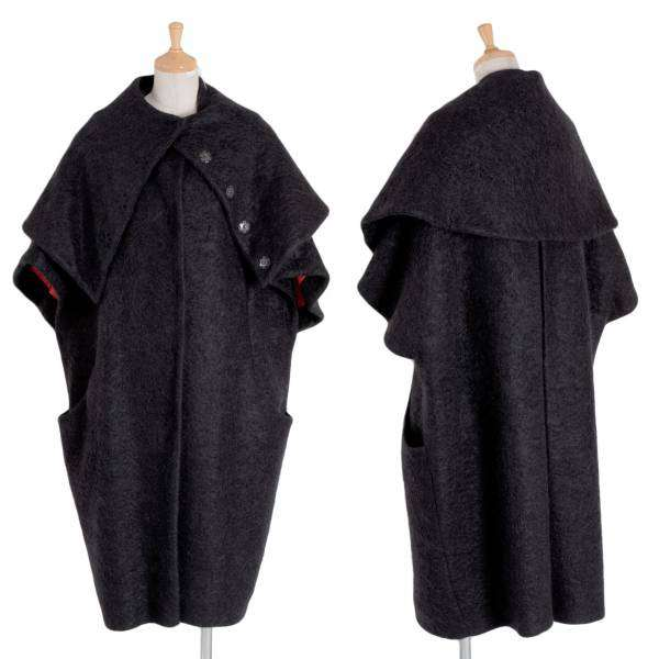 【SALE】マリメッコmarimekko モヘア混半袖コート 黒46