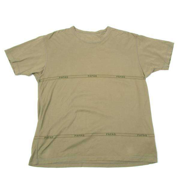 (SALE) Papas Line pattern Woven T-shirt Größe L(K-31190)