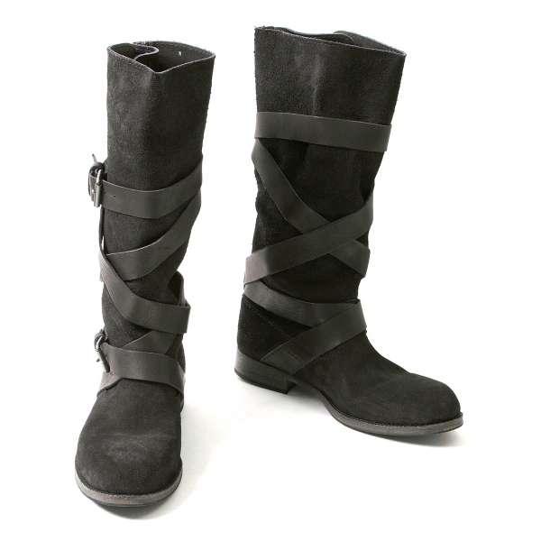 (SALE) JUNYA WATANABE Belt design suede boots Size M(K-32085)