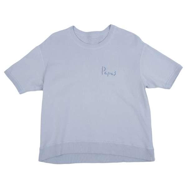 (SALE) Papas Logo embroidery short sleeved sweatshirt Größe S-M(K-33455)