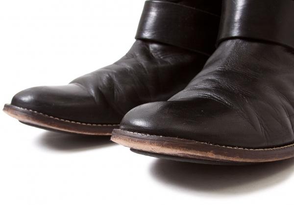 (SALE) Y's Folded Leder Stiefel 6.5)(K-35095) Größe 2(US About  6.5)(K-35095) Stiefel 239f6f
