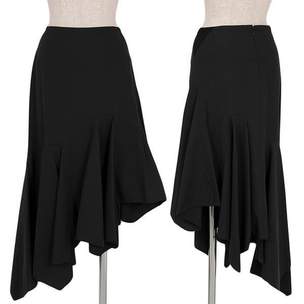 【SALE】ジャンポールゴルチエ ファムJean Paul GAULTIER FEMME アシンメトリーデザインスカート 黒40