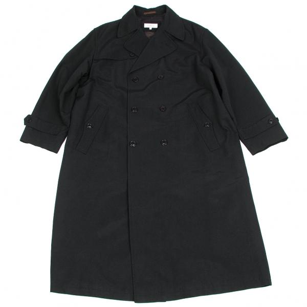 【SALE】エルメネジルドゼニアErmenegildo Zegna コットンポリステンカラーコート 黒M