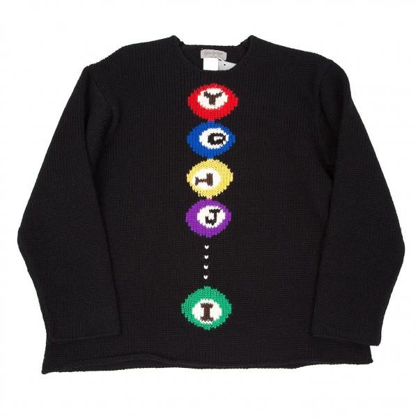 Yohji Yamamoto POUR HOMME Billiards knit sweater Größe M(K-37835)
