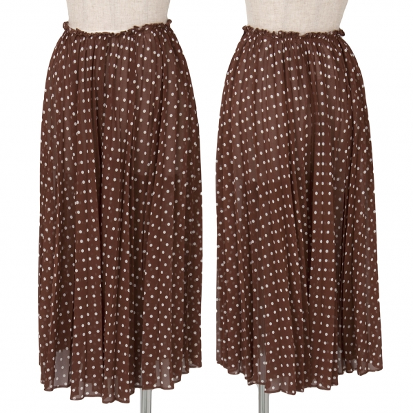 (SALE) COMME des GARCONS See-through pleated skirt Size M(K-38174)