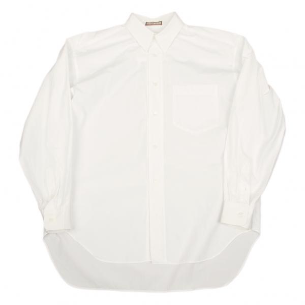 【SALE】イッセイミヤケ メンISSEY MIYAKE MEN 前立て切替デザインシャツ 白M位