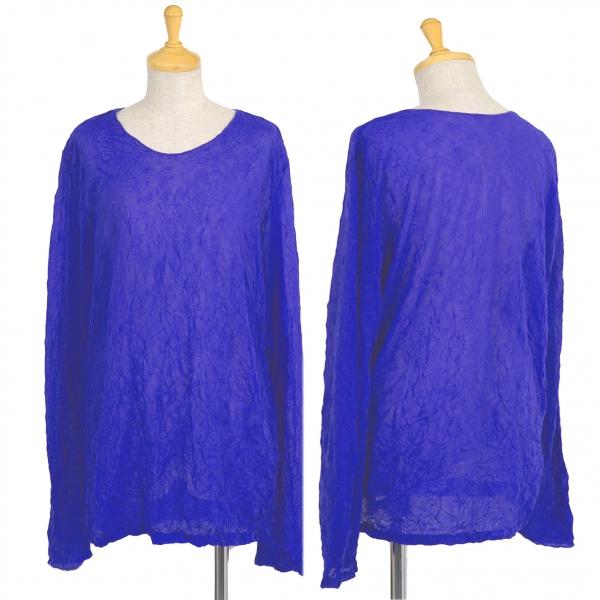 ISSEY MIYAKE Polyester Wrinkled top Größe L(K-40219)