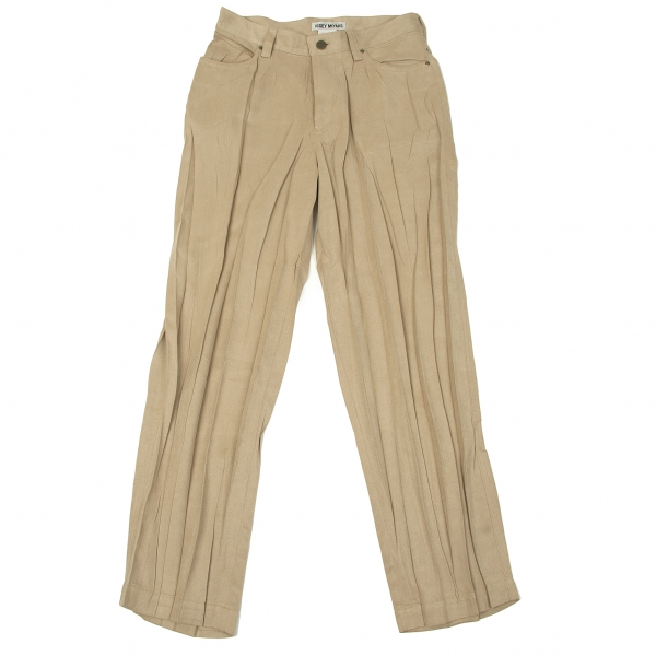 (SALE) ISSEY MIYAKE Brushed Pleated Pants Size M(K-40535)