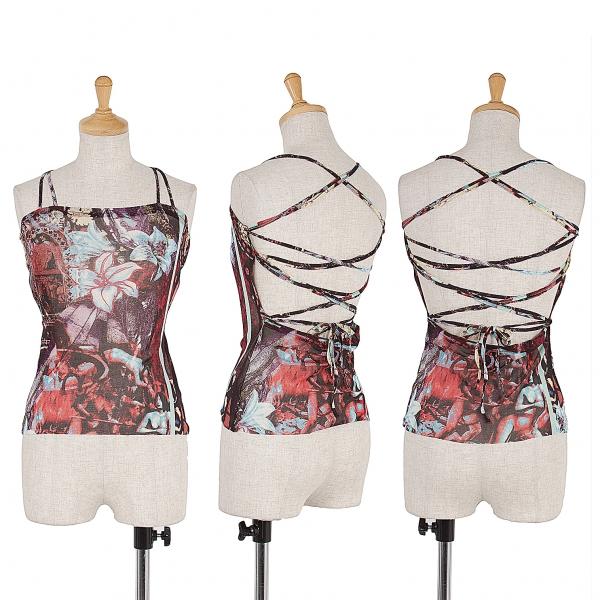 Jean-Paul GAULTIER Power net floral camisole Größe 40(K-41537)