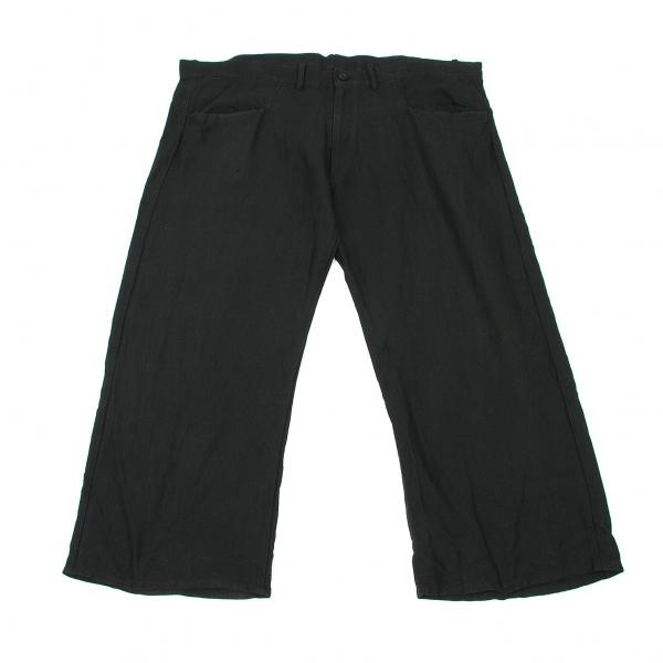 【SALE】ワイズY's 和紙リネンスーパーワイドパンツ 黒2