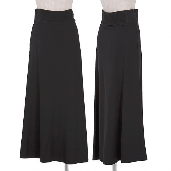 【SALE】ワイズY's ウエストリブウールスカート 黒3
