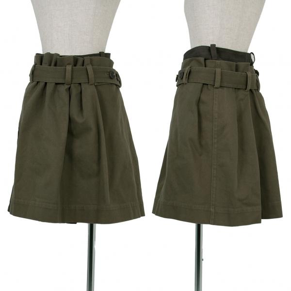 【SALE】ワイズY's コットンレイヤードラップスカート カーキ1