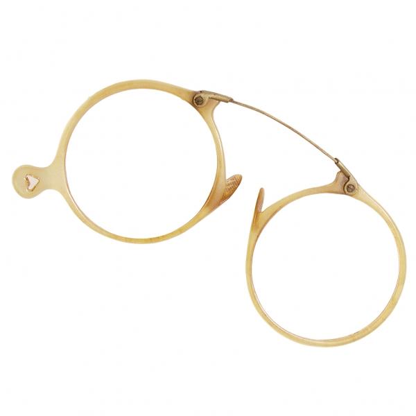 ヴィンテージ丸眼鏡メガネ レンズ無し 茶直径45
