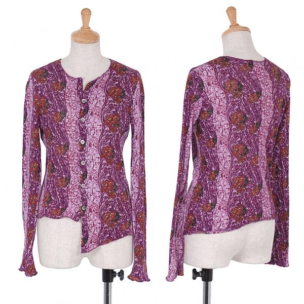 (SALE) Y's Flower Pattern Cotton Cardigan Größe 3(K-45150)