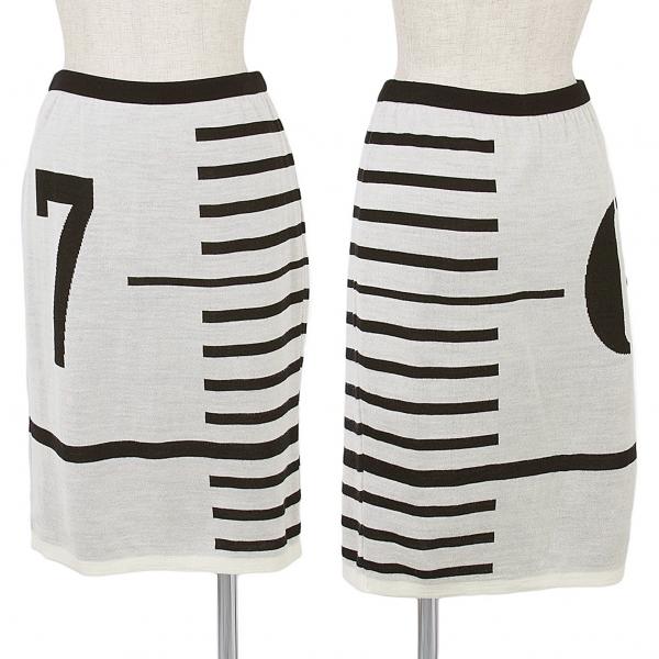 Jean-Paul GAULTIER FOR SEPT PREMIERES Knit skirt Size 40(K-46230)