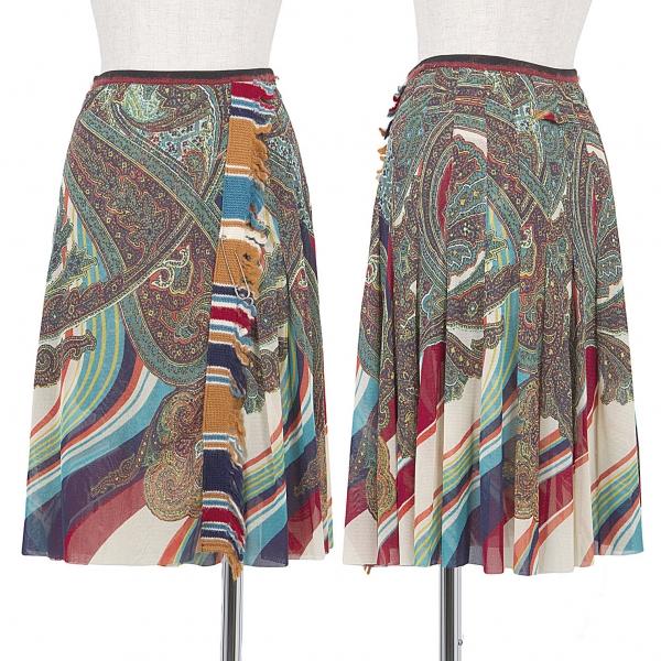 Jean-Paul GAULTIER FEMME Print Net Skirt Size 40(K-46433)