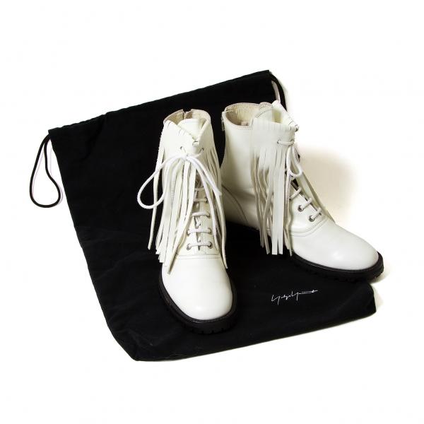 Yohji Yamamoto FEMME Fringe leather boots Size US About 6.5(K-46978)