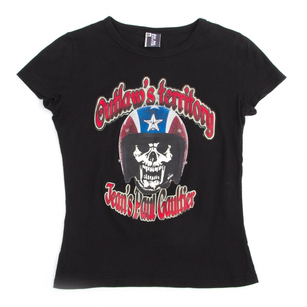 Jean-Paul GAULTIER Print T-Shirt Größe 40(K-47507)