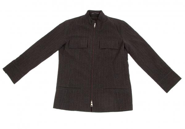 Stripe Front 47539 Zip 3 Y's k Blouson Size qTwax55dg