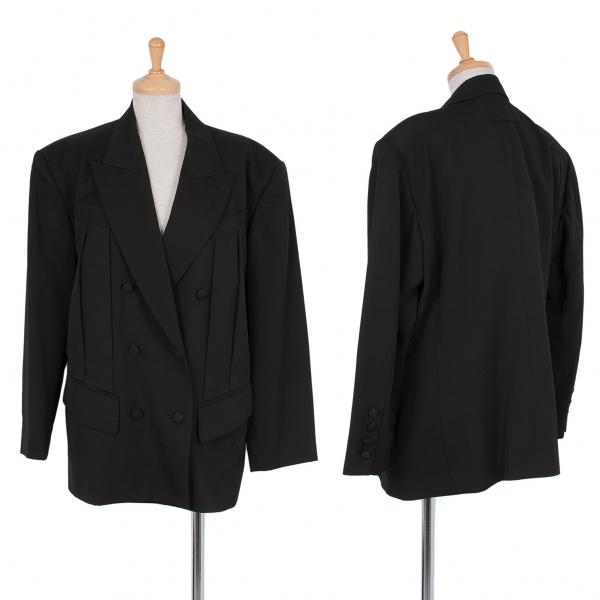 (venta) Jean-Paul GAULTIER Femme Pliegues Lana Chaqueta Talla 40 (K-47608)   mejor precio