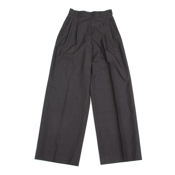 Jean-Paul GAULTIER CLASSIQUE Wool Plaid Pants Size 40(K-47941)