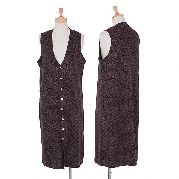 Zucca Pattern Jacquard Sleeveless Dress Size M(K-48053)