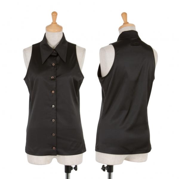 【SALE】ジャンポールゴルチエ クラシックJean Paul GAULTIER CLASSIQUE ポリストレッチノースリーブシャツ 黒40