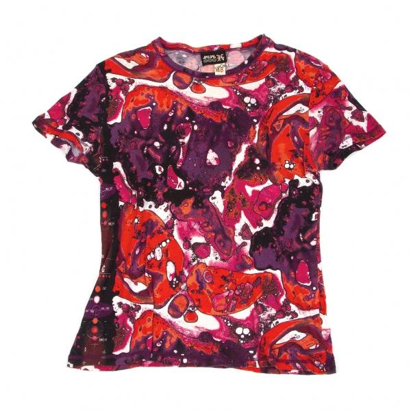 ジャンポールゴルチエJean Paul GAULTIER PARIS マーブルグラフィックTシャツ 紫他48