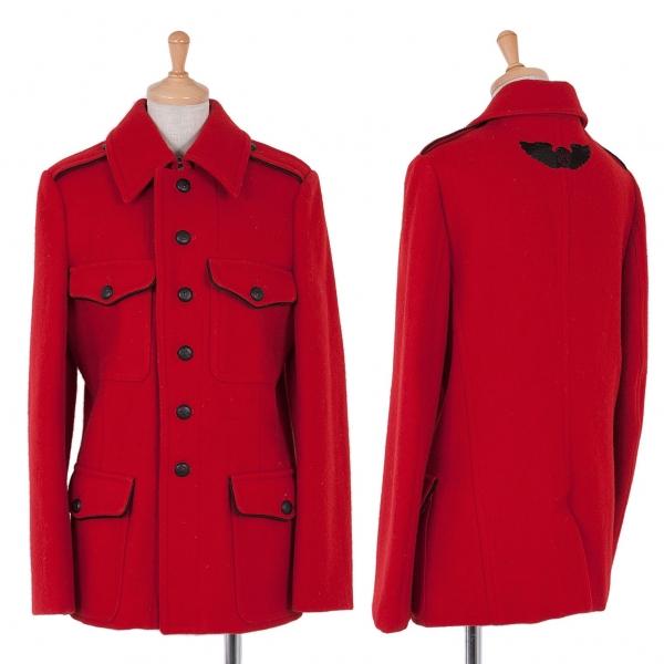 ワイズ レッドレーベルY's red Label ウールナポレオンジャケット 赤黒2
