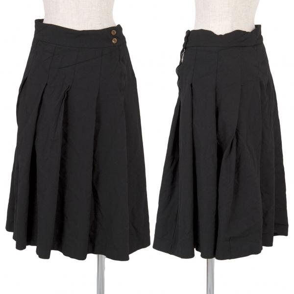 コムコム コムデギャルソンCOMME des GARCONS 製品染めエステルプリーツスカート 黒XS