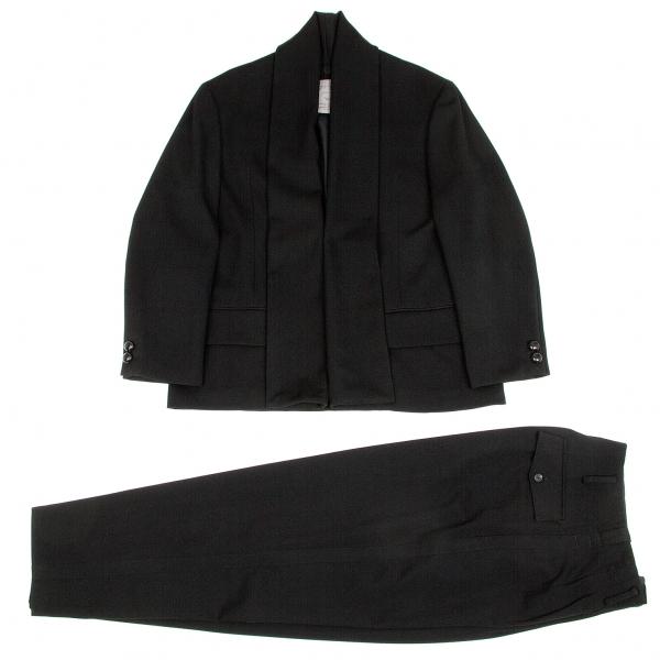 ヨウジヤマモト プールオムYohji Yamamoto POUR HOMME ウール襟変形セットアップスーツ