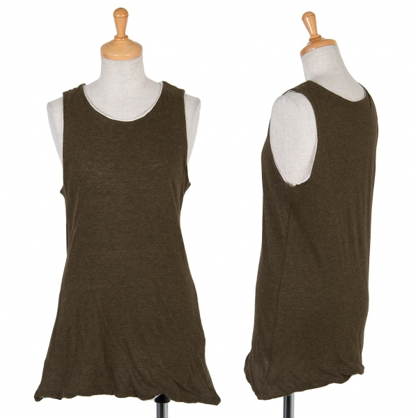 Y's Cotton sleeveless top Größe 3(K-48986)