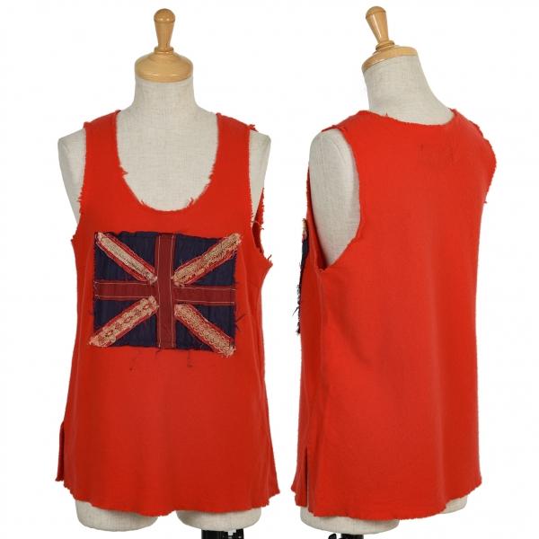 (SALE) tricot COMME des GARCONS Union Jack knit tank oben Größe S(K-49194)