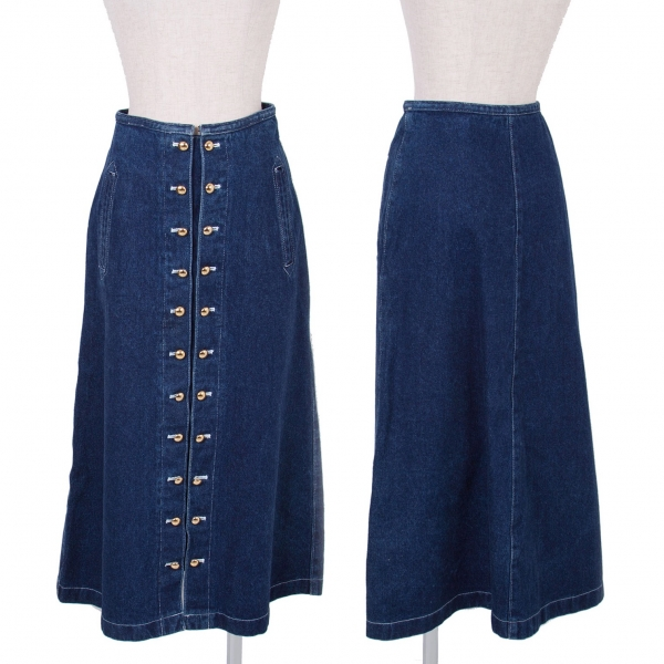 PINK HOUSE Denim Skirt Size S-M(K-49373)