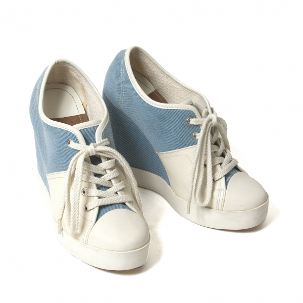 Chloe Canvas switch sneakers Blue,Ivory