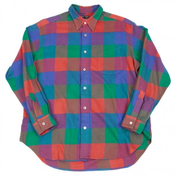 Paul Smith Plaid Long Sleeve Shirt Size L(K-49865)