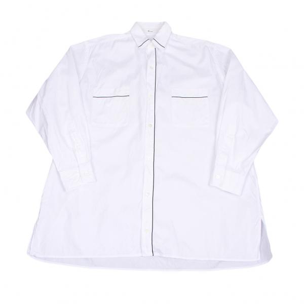 【SALE】ワイズフォーメンY's for men パイピングデザインシャツ 白黒M位