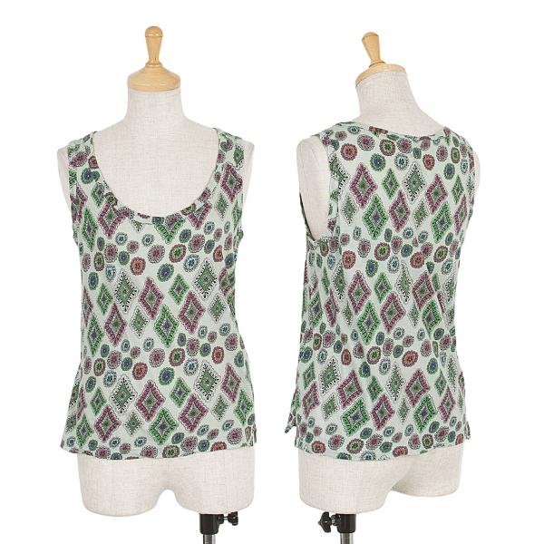 LIMI feu Print Sleeveless shirt Größe S(K-49931)