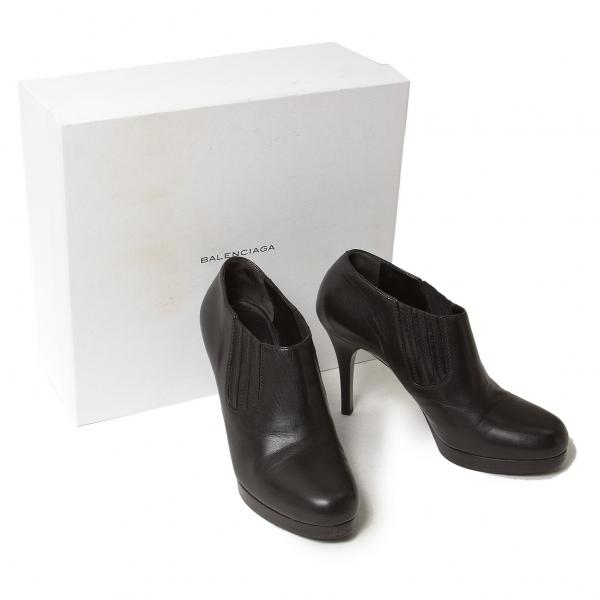 BALENCIAGA Leather side gore pin heel bootie Size 38(K-50164)