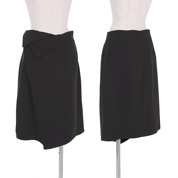 GIORGIO ARMANI Silk wrap skirt Size 46(K-50306)