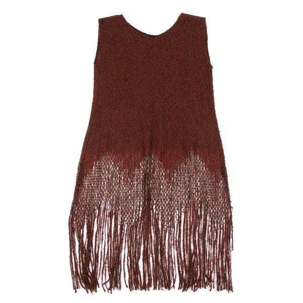 SALE-ANNA-SUI-Knit-fringe-sleeveless-Size-2-K-50765 thumbnail 2