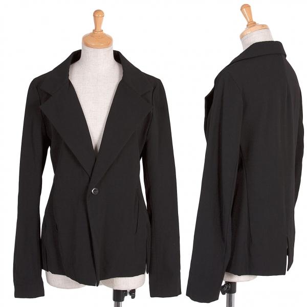 【SALE】ワイズY's ウールギャバジャケット 黒2