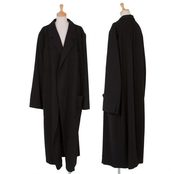 ワイズY's ウールギャバパッチポケットコート 黒M位